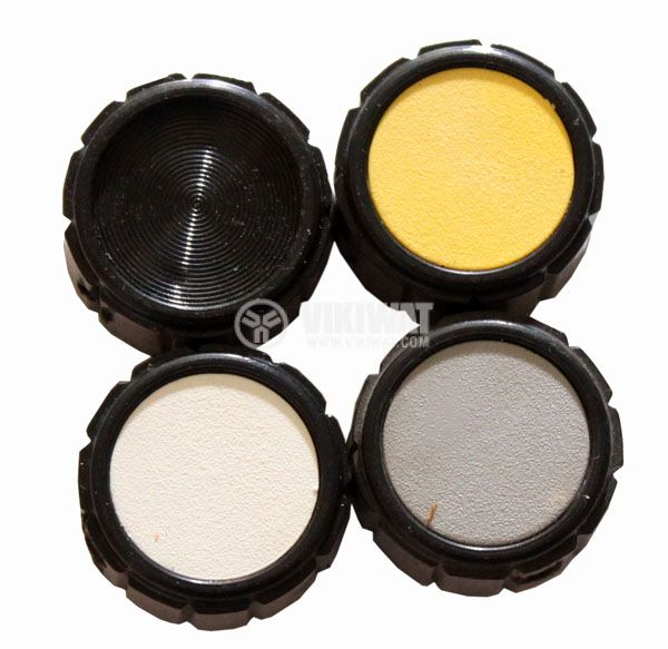 Копче за потенциометър Ф20х12 mm без индикатор жълт цвят