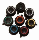 Копче за потенциометър Ф18х18 mm с фланец и репер с оранжев ринг