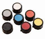 Копче за потенциометър Ф20х18 mm без индикатор с репер бял цвят