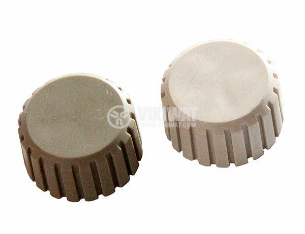 Копче за потенциометър Ф20х11 mm без индикатор светлосив цвят