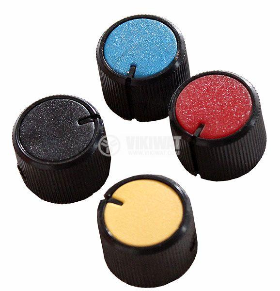 Копче за потенциометър Ф21х15 mm с индикатор черен цвят