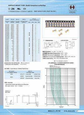 Предпазител 2N-0250L 250 mA, 125 V, SMD - 2