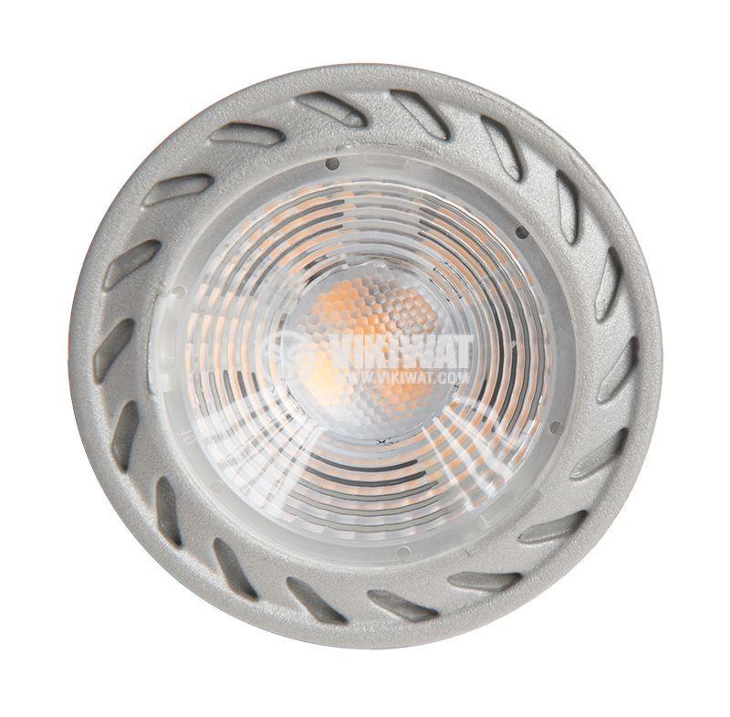 LED лампа 3W, GU10, MR16, 220VAC, 220lm, 6400K, студенобяла, BA25-0352 - 4