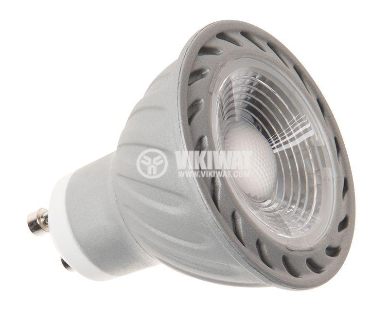 LED лампа 3W, GU10, MR16, 220VAC, 220lm, 6400K, студенобяла, BA25-0352 - 5