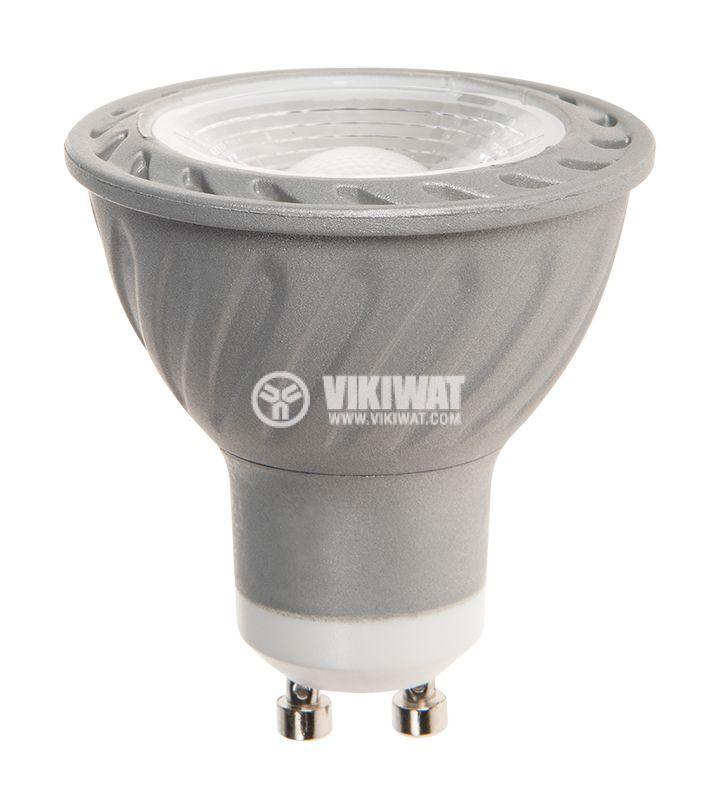 LED лампа 3W, GU10, MR16, 220VAC, 220lm, 6400K, студенобяла, BA25-0352 - 1