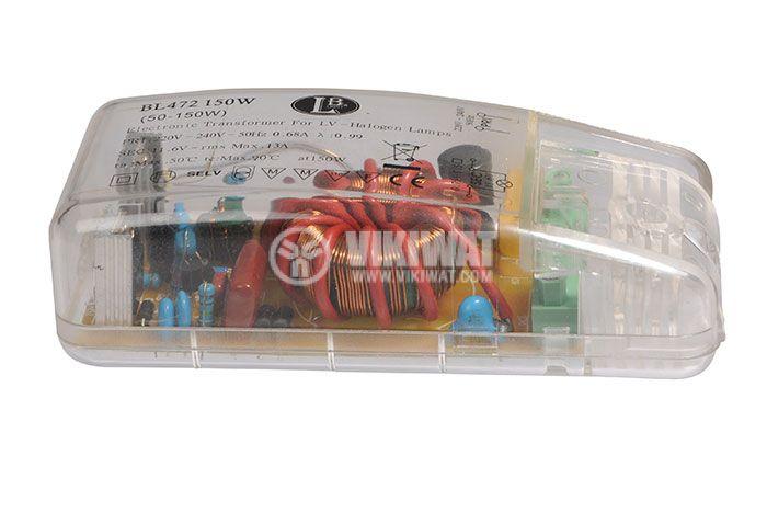 Електронен трансформатор BL472, 220-12VAC, 150W, за халогенни лампи - 1