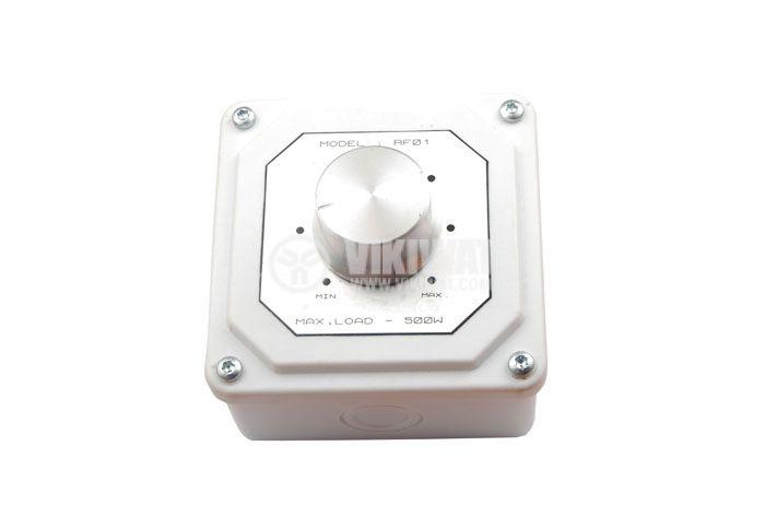 Fan and motor speed regulator, 500W - 1