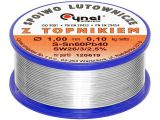 Lead solder wire LC60-1.00/0.1, Sn60%, Pd40%, 1mm, 190°C