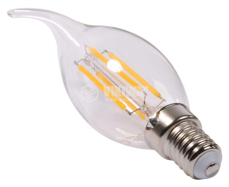 LED лампа BA37-0410, 4W, 220VAC, E14, 3000K, топлобяла, тип свещ - 5