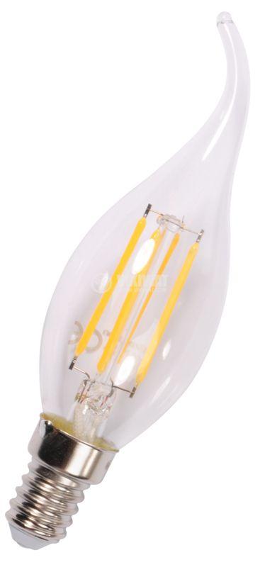 LED лампа BA37-0410, 4W, 220VAC, E14, 3000K, топлобяла, тип свещ - 6