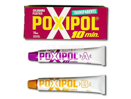 Two-component transparent adhesive POXIPOL 70 ml
