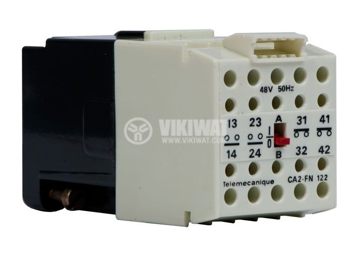 Contactor, four-pоle, coil 48VАC, 4PST - 2NO+2NC, 4A, CA2-FN 122 - 1