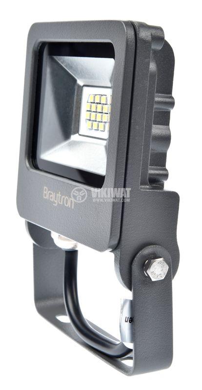 LED floodlight 10W, 220VAC, 800lm, 3000K, warm white, IP65, waterproof, SLIM, BТ62-01002 - 2