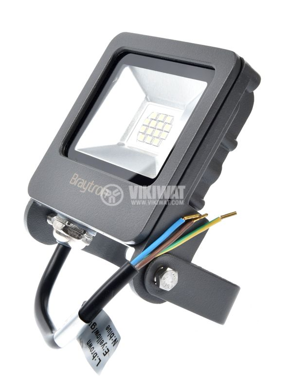 LED floodlight 10W, 220VAC, 800lm, 3000K, warm white, IP65, waterproof, SLIM, BТ62-01002 - 3