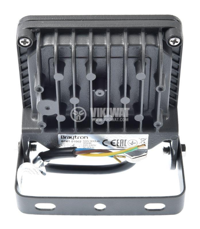 LED floodlight 10W, 220VAC, 800lm, 3000K, warm white, IP65, waterproof, SLIM, BТ62-01002 - 5