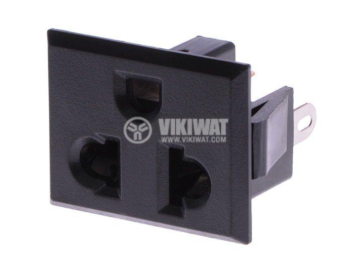 Power Electrical Socket, single phase, black - 1