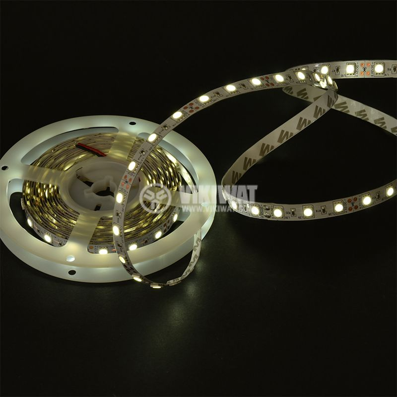 LED strip ECOLINE 5050, 60LED/m, 14.4W/m, 12VDC, IP20, non-waterproof, cool white,  BS01-00303 - 2