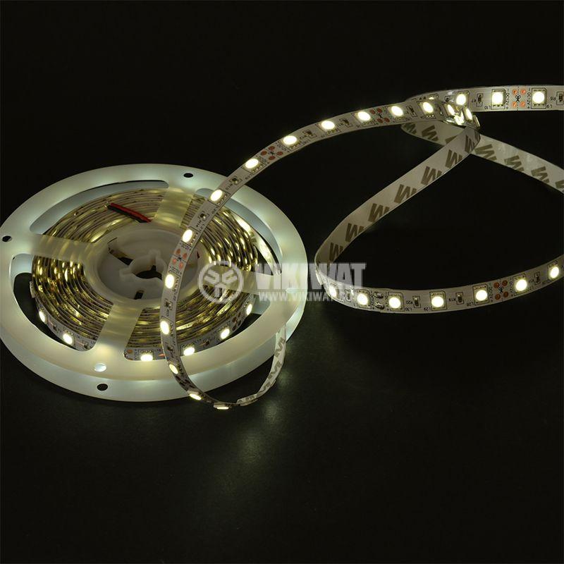 LED лента ECOLINE 5050, 60LED/m, 14.4W/m, 12VDC, IP20, невлагозащитена, студено бяла, BS01-00303 - 2