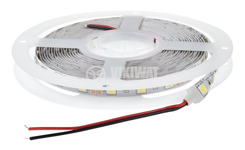 LED лента ECOLINE 5050, 60LED/m, 14.4W/m, 12VDC, IP20, невлагозащитена, студено бяла, BS01-00303 - 3