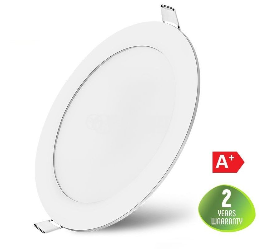 LED panel 16W, round, 220VAC, 1180lm, 4200K, neutral white, ф190mm, recessed ceiling, SLIM, BL07-1610 - 1