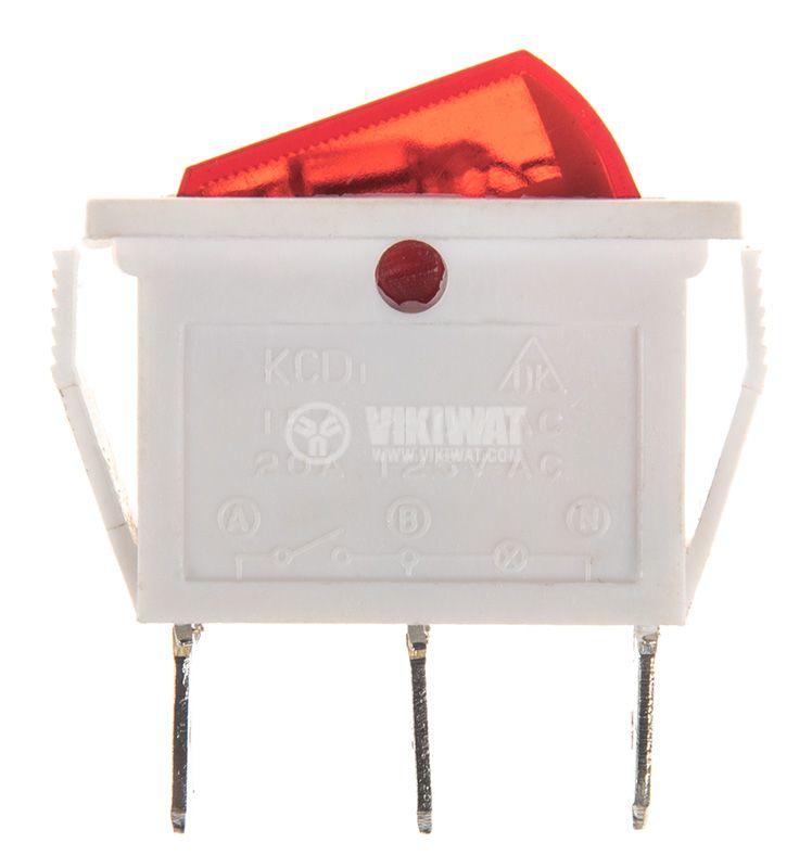Rocker Switch, 2-position, OFF-ON, 15A/250VAC, hole size 26х11mm - 2
