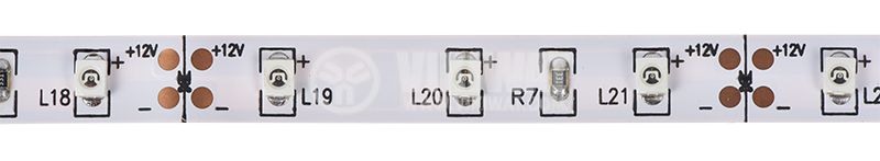 LED strip ECOLINE 3528, 60LED/m, 4.8W/m 12VDC, IP20, non-waterproof, red, BS01-00104 - 1