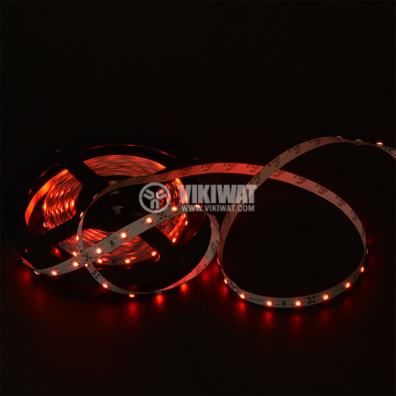 LED strip ECOLINE 3528, 60LED/m, 4.8W/m 12VDC, IP20, non-waterproof, red, BS01-00104 - 2