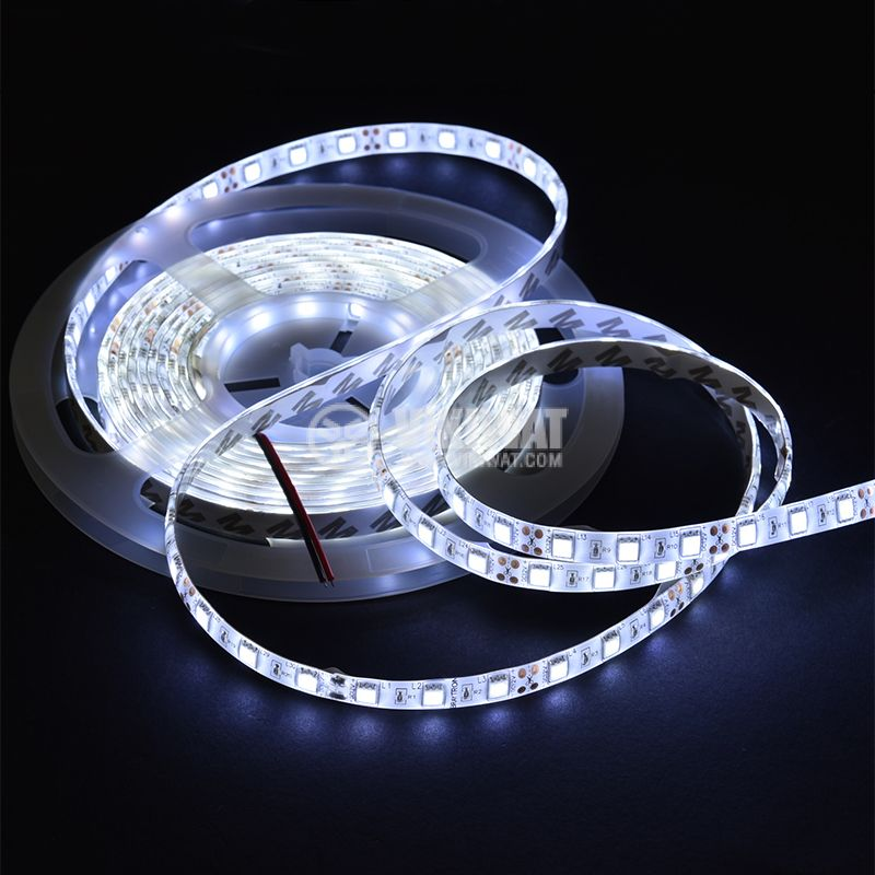 LED strip 60LED/m, сcool white, SMD5050, 12VDC, 14.4W/m, IP65 - 2