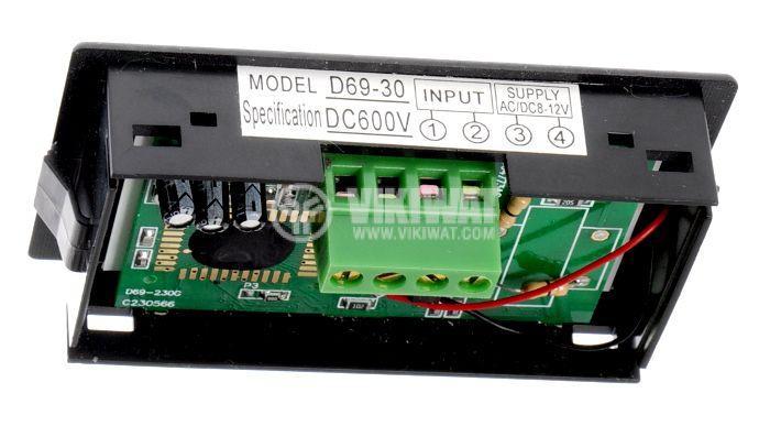 Digital voltmeter, 0-600V DC, SFD-69 - 2