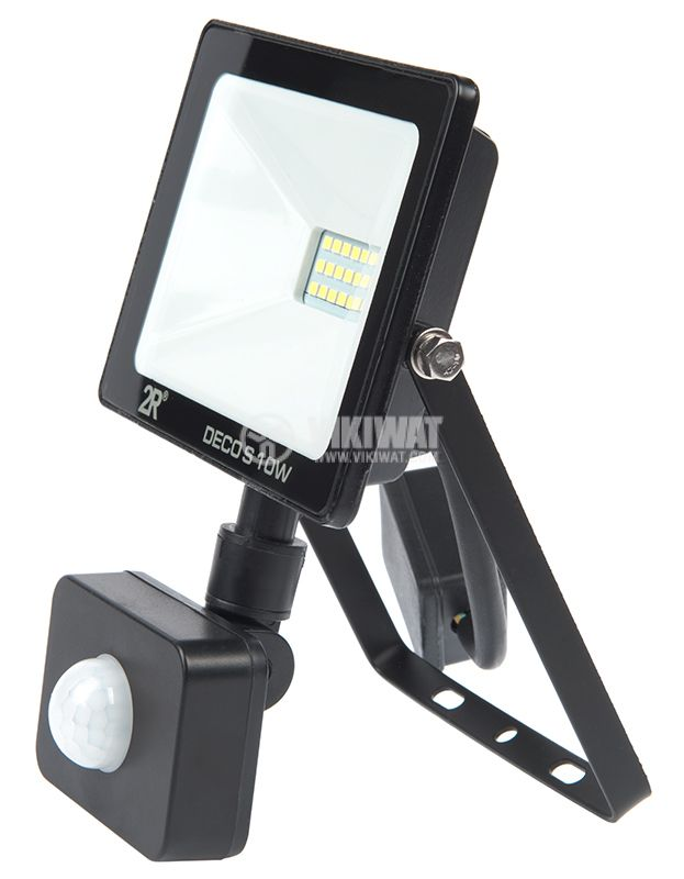 LED floodlight with sensor 10W, 220VAC, 1000lm, 6000K, cool white, IP65, waterproof - 2