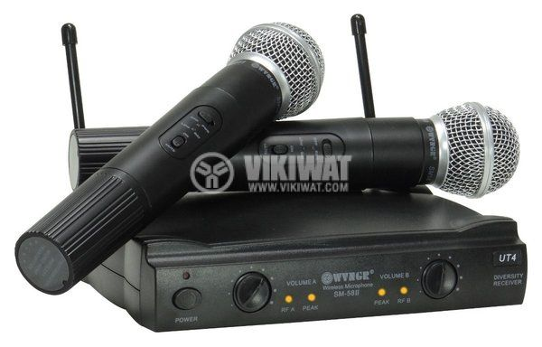 Professional wireless dual microphone system SM-58 II WVNGR