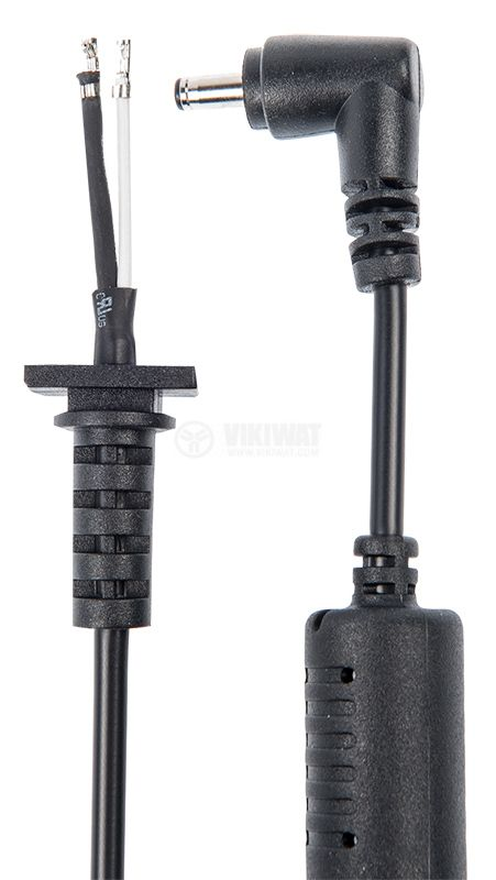 Power cable with laptop connector tip, 3.4x1.3mm, 1m - 2