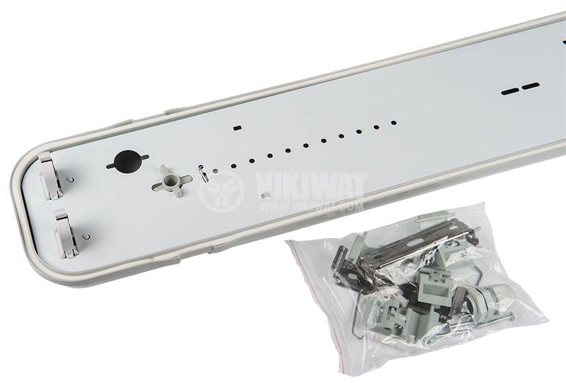 LED тяло E PLUS Pro, 2x9W, двустранна, Т8, IP65, влагозащитено, 600mm - 2