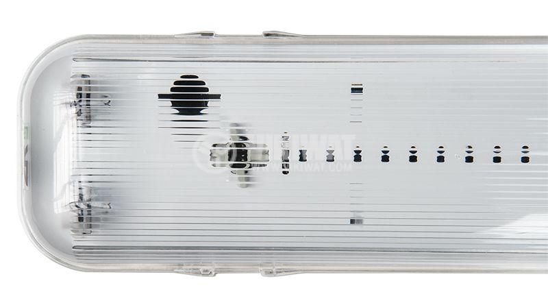 LED тяло E PLUS Pro, 2x9W, двустранна, Т8, IP65, влагозащитено, 600mm - 4