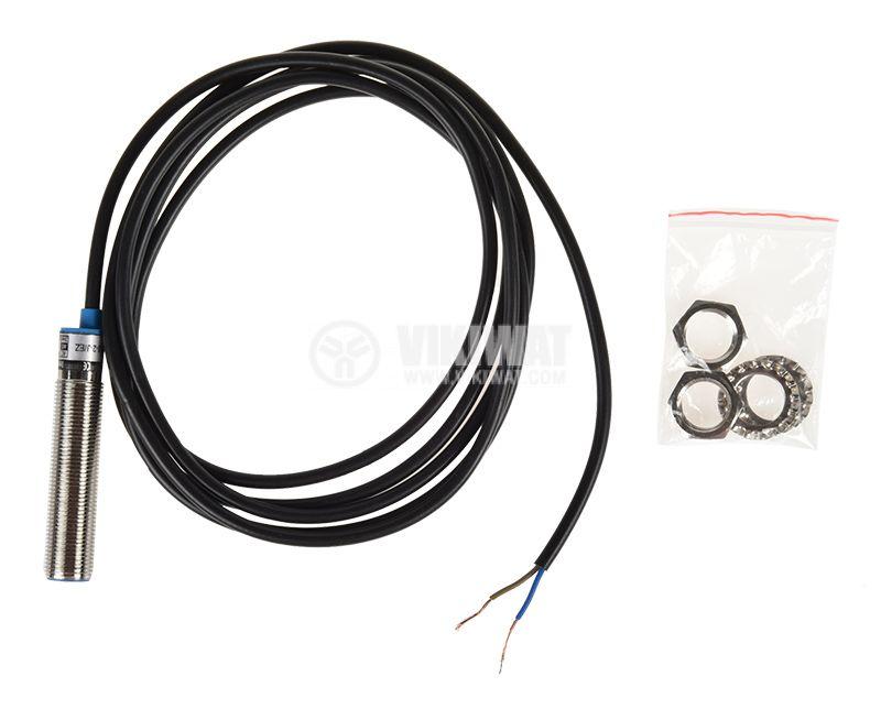 Индуктивен датчик LJ12A3-2-J/EZ, M12x62mm, 90-250VAC, NO, обхват 2mm, екраниран - 3