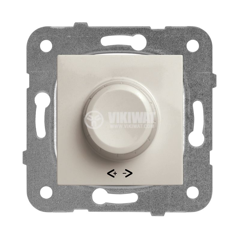 Rotary Dimmer, Panasonic, mechanism+rocker, RLC 20-350W, 230VAC, bronze, WKTT0524-2BR