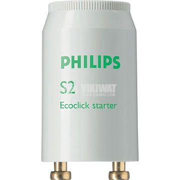 Стартер за луминесцентна лампа S2 Ecoclick, 4-22W