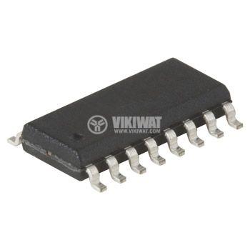 IC 74HC595D, TTL серия HC, 8-bit register, SO16
