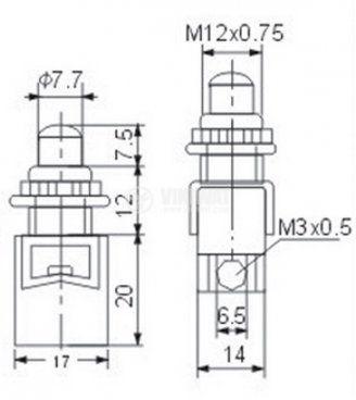 Бутон PBS13B - 2