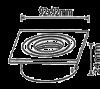 Spotlight fixture, black silver, GU5.3, BN12-0116 - 3