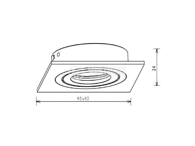 Арматура за вграждане BN12-0116 за халогенни и LED луни черна GU5.3 - 5