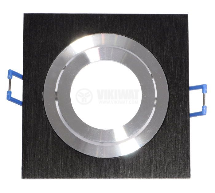 Spotlight fixture BN12-0116, black silver, GU5.3 - 1