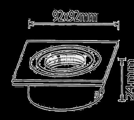 Арматура за вграждане за халогенни и LED луни, черна, сребърна, GU5.3, BN12-0116 - 3