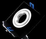 Арматура за вграждане за халогенни и LED луни, черна, сребърна, GU5.3, BN12-0116