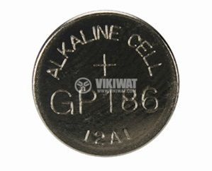 Button cell battery, LR43, 1.5V, alkaline - 1