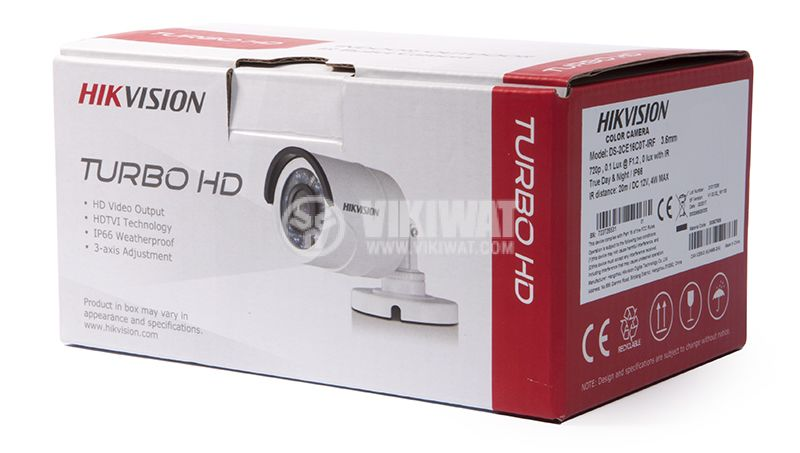 Camera 1Mpx 3.6mm DS-2CE16C0T-IRF HIKVISION - 5