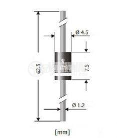 Диод ценеров 1N5366B, 39V, 5W - 2