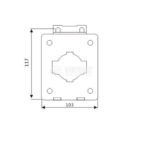 Токов трансформатор VSQ-60, 1000/5А, 660V, клас 1 - 2