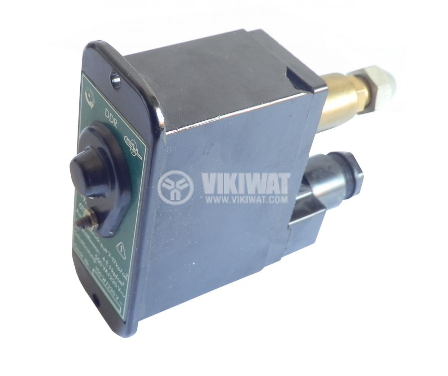 Pressure switch, adjustable, DDR 613.08, 7 to 17 kp/cm2, 1NO, 2.3A, 220VAC