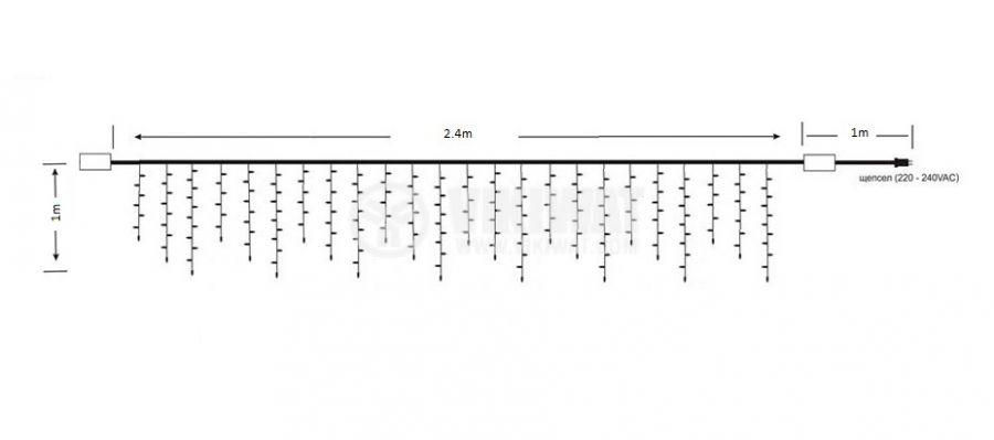 Коледна украса 2.4m - 4